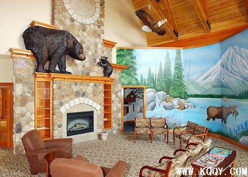 儿童牙科诊所装修——森林动物
