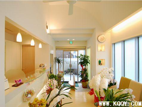 日本牙科诊所前台候诊区设计-牙科装修-口腔前沿网