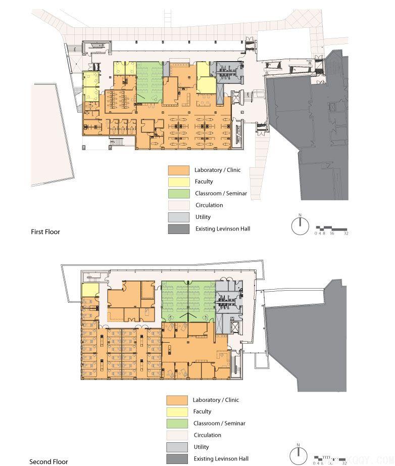 奥克兰大学口腔医院平面设计图